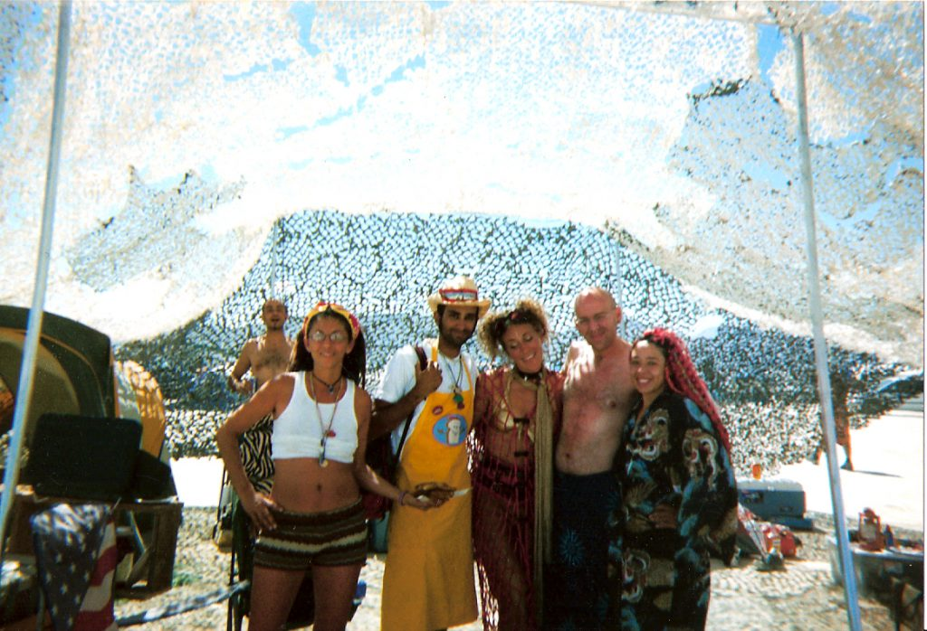 Burning Man 2003: Regina on the far left holding a plate of OG French Toast
